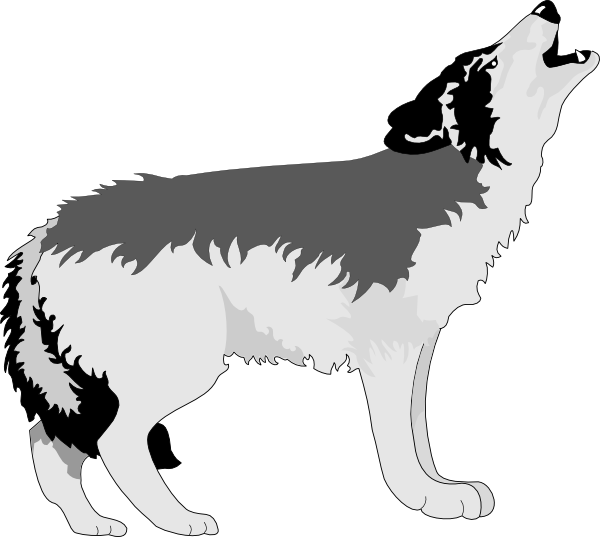 Coyote clipart were wolf. Free cute werewolf cliparts