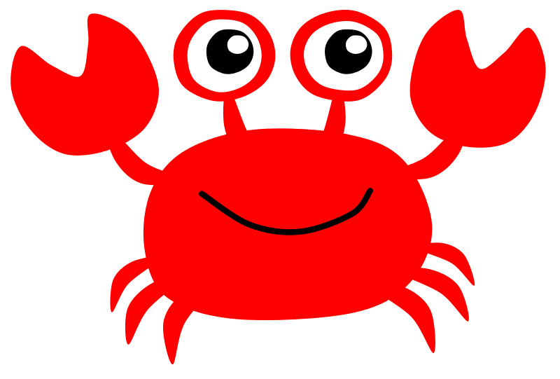 Crab cartoon png. Easy silouette clip art