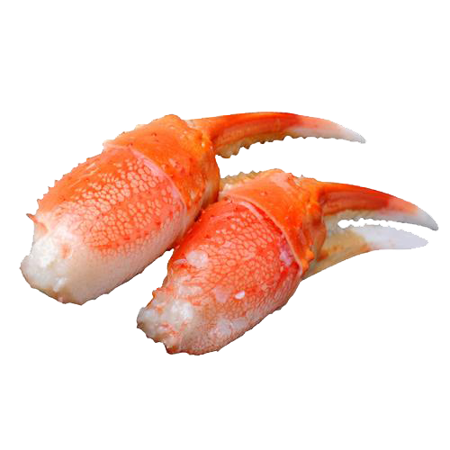 Crab claws png. King lobster sushi meat