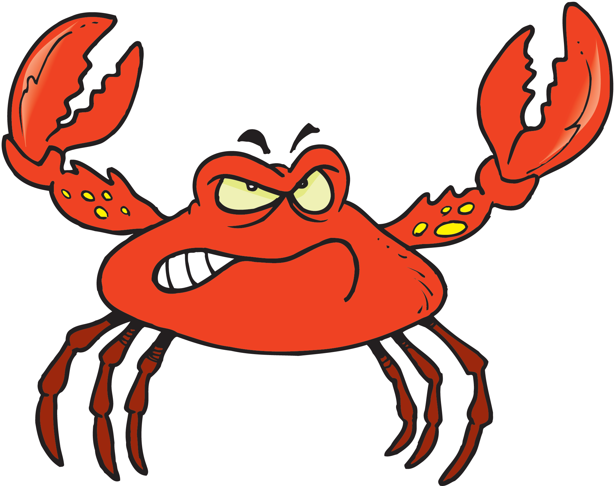Transparent crab kid. Free cartoon download clip