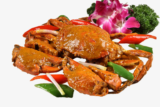 Crab clipart chilli crab. Curry chili png image