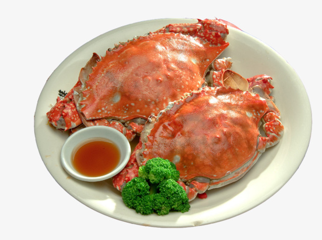 Crab clipart chilli crab. Two swimming seafood png