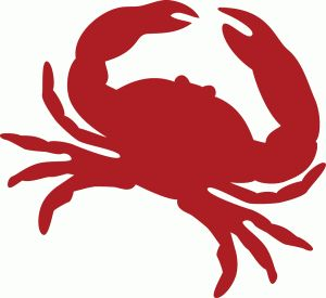 Crab clipart red crab. Silhouette clip art at