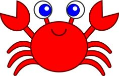 Crab clipart red whale. By scout a of