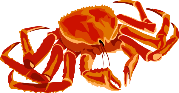 Crab legs dinner png. Free clipart