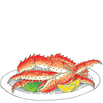 Crab legs dinner png. Sustainable seafood