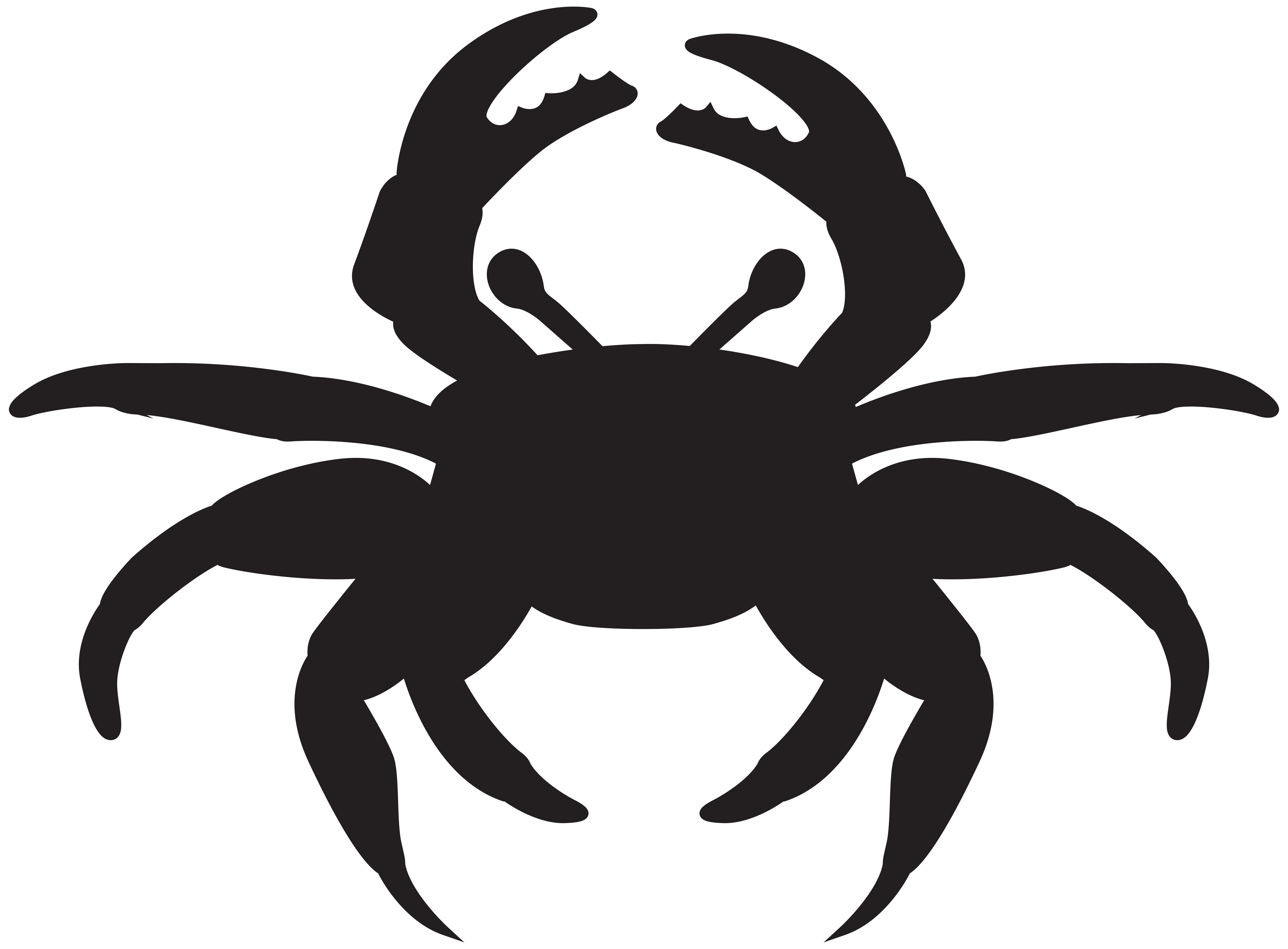 Crab silhouette png. Clip art image gallery