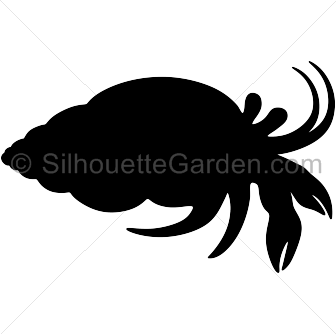 Crab silhouette png. Hermit