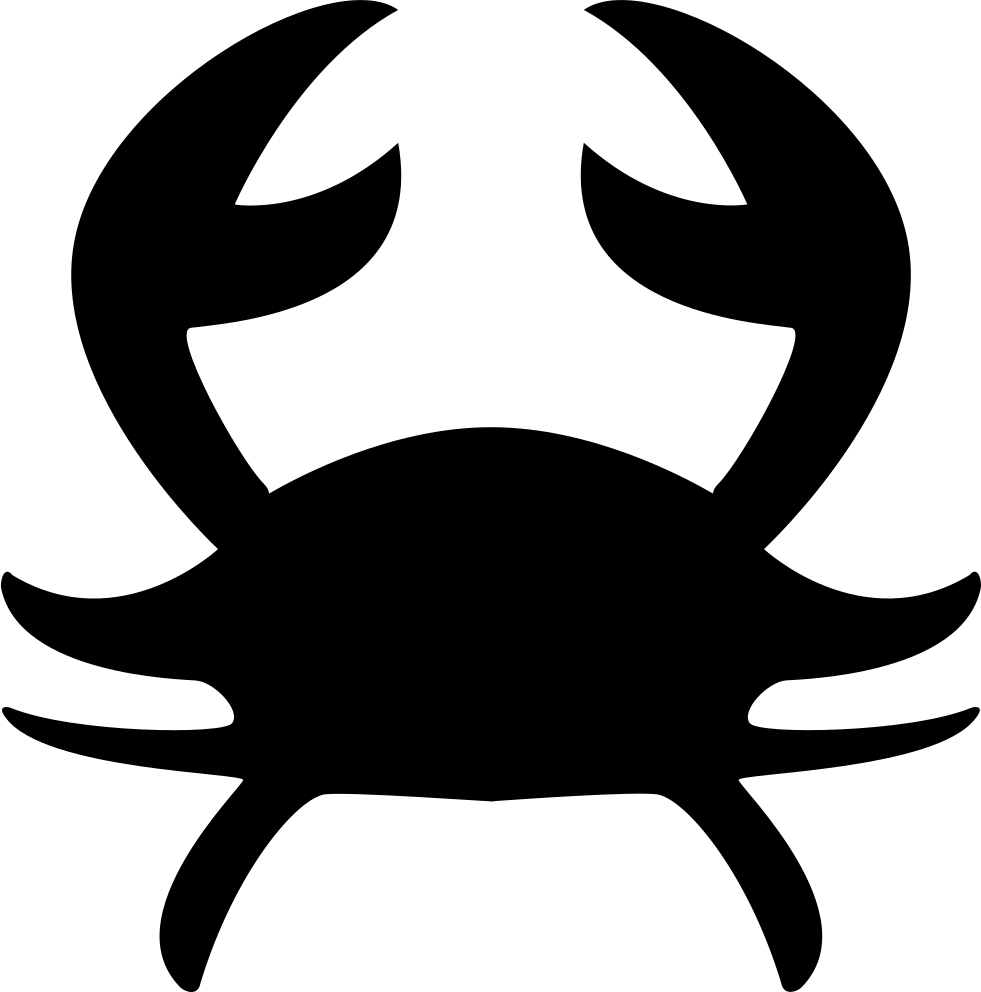 Crab silhouette png. Cancer astrological sign of