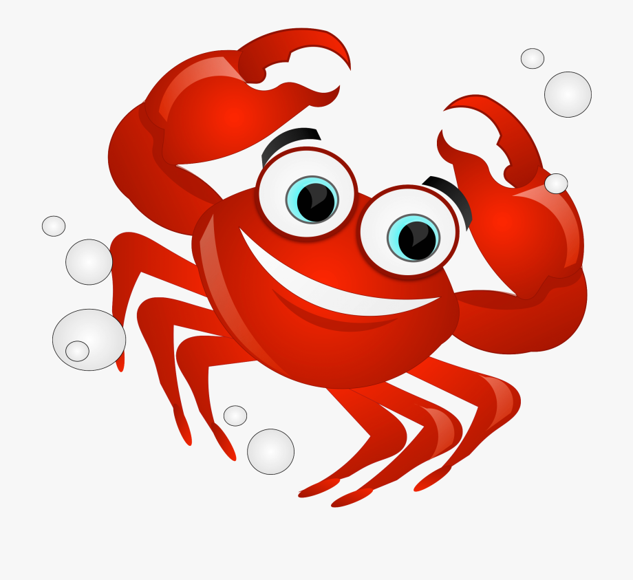 Crab tail. Crabs clipart red animal
