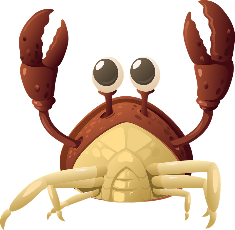 Crabs clipart crab claw. Free to use public