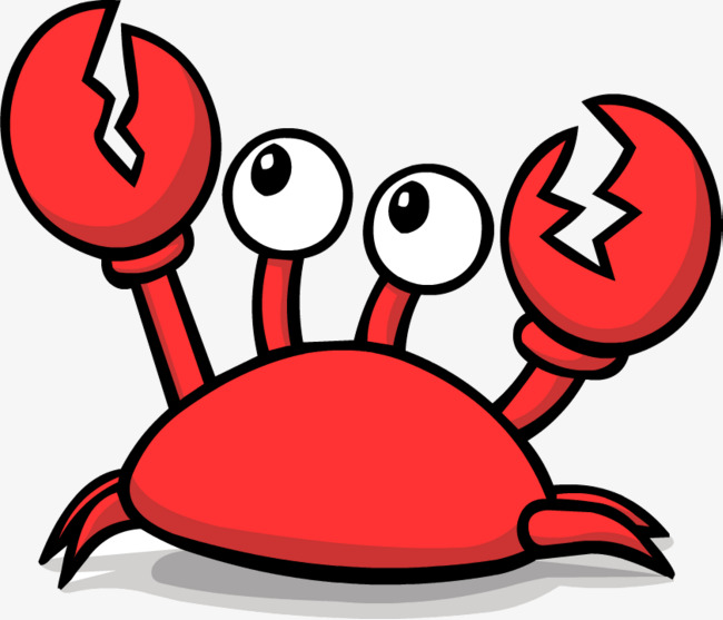 Crabs clipart crab claw. Big eyes cute material
