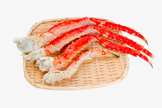 Crabs clipart crab claw. Bamboo basket of seafood
