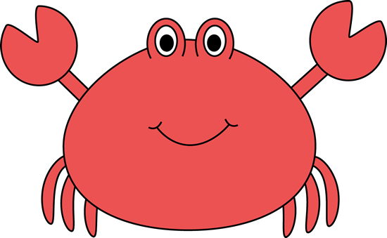 Crabs clipart under sea. Cute crab clip art