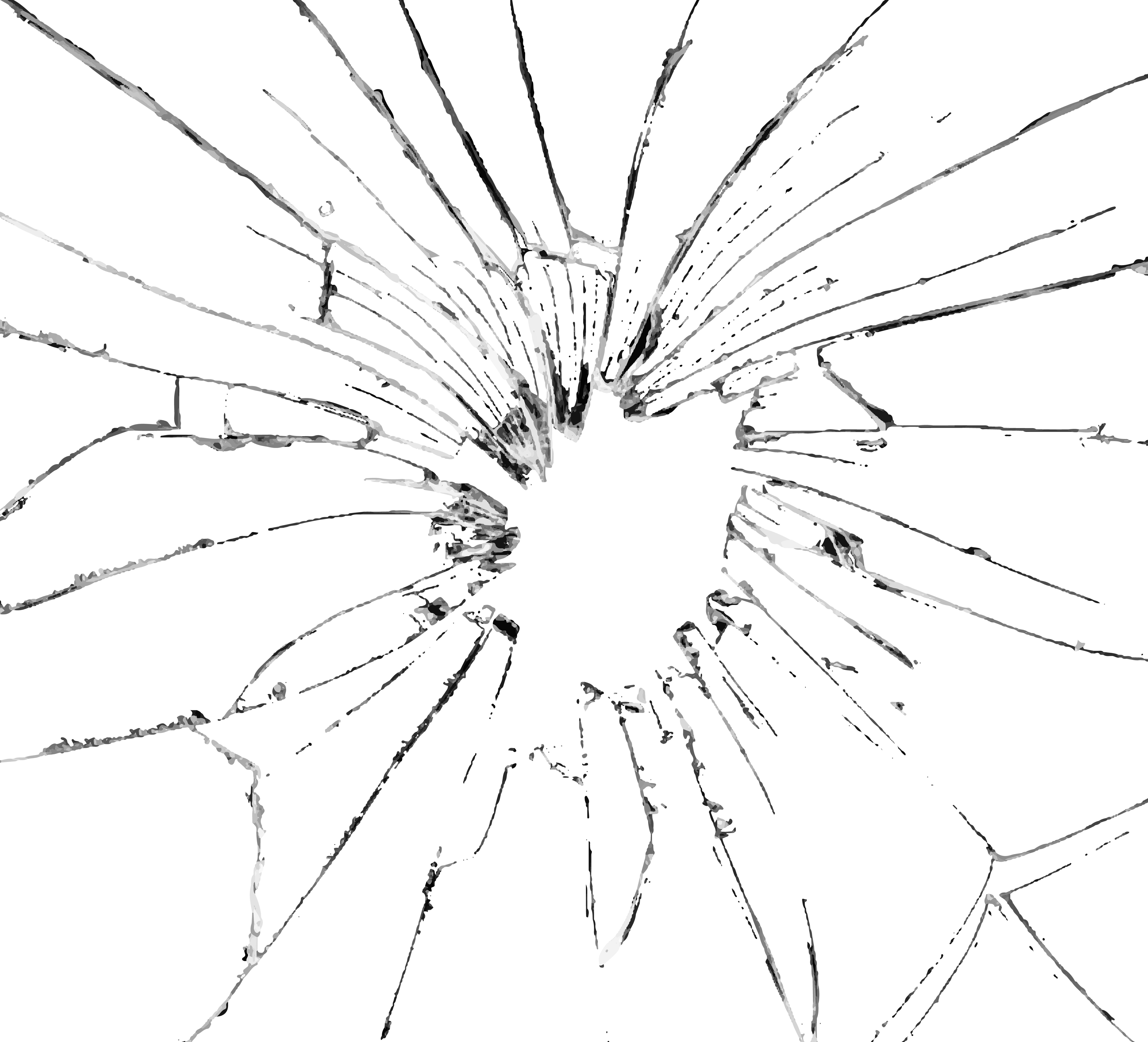 Cracked drawing cup. Broken glass effect png