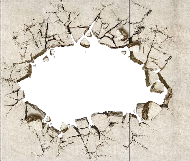 Crack in wall png. Painting drawing land transprent