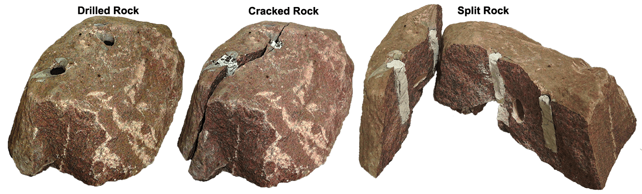 Crack rock png. Demolition for silent and