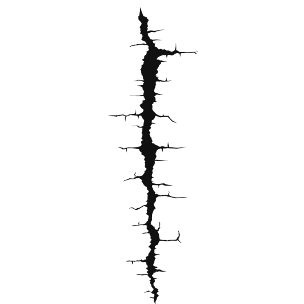 Crack wall png. Decals and stickers for