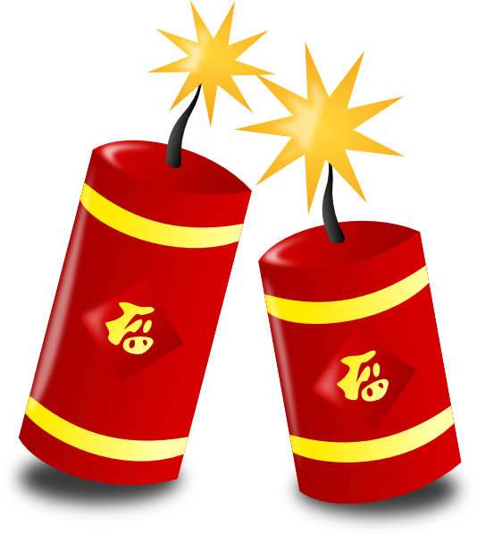 Firecracker vector cny. Fire crackers clipart chinese