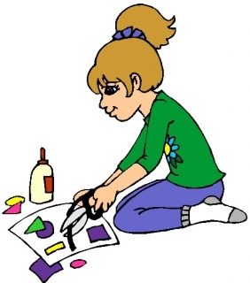 Craft clipart craft table. Arts and crafts clip