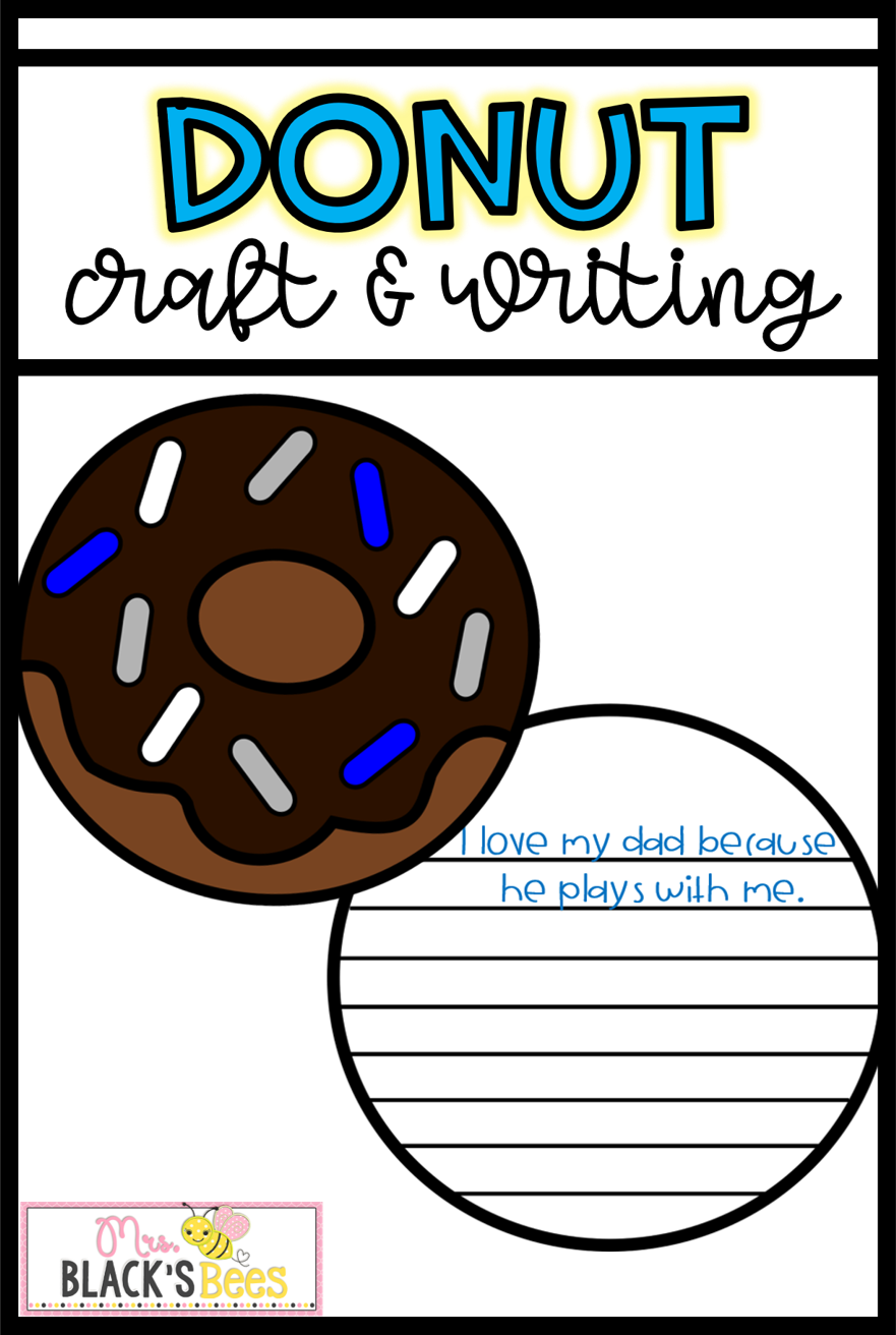 Craft clipart fun activity. Donuts for dad and