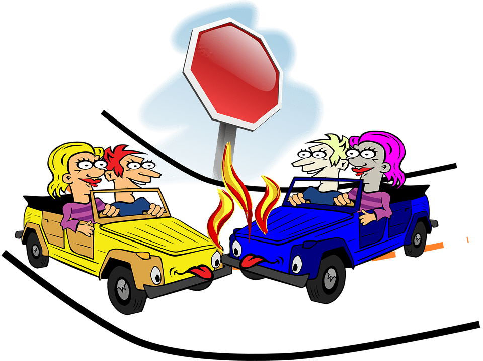 Does a car accident. Cars clip body clipart black and white stock