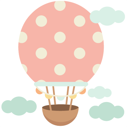 Cute doodle png. Scrapbook clipart hot air