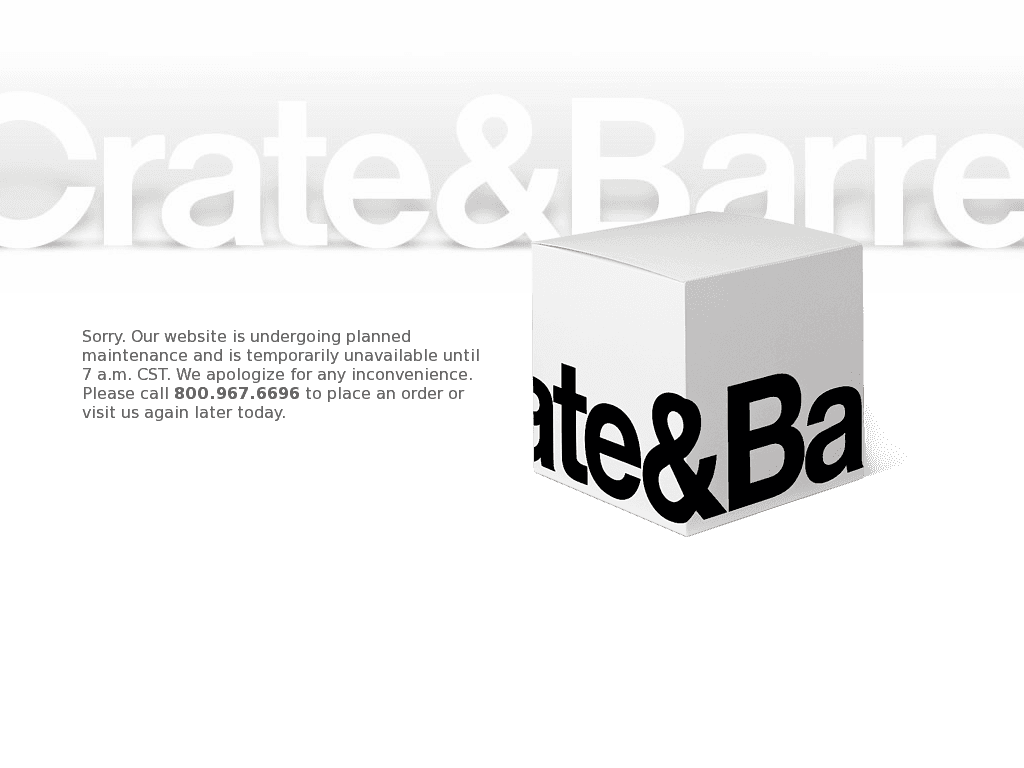 Crate and barrel logo png. Down current status outage