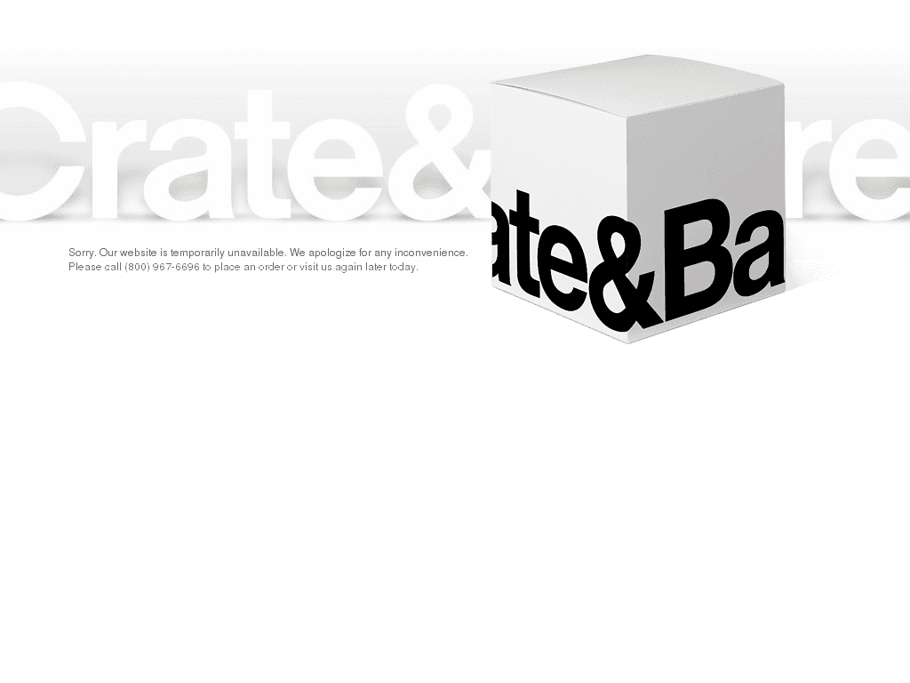 Crate & barrel png. And down current status