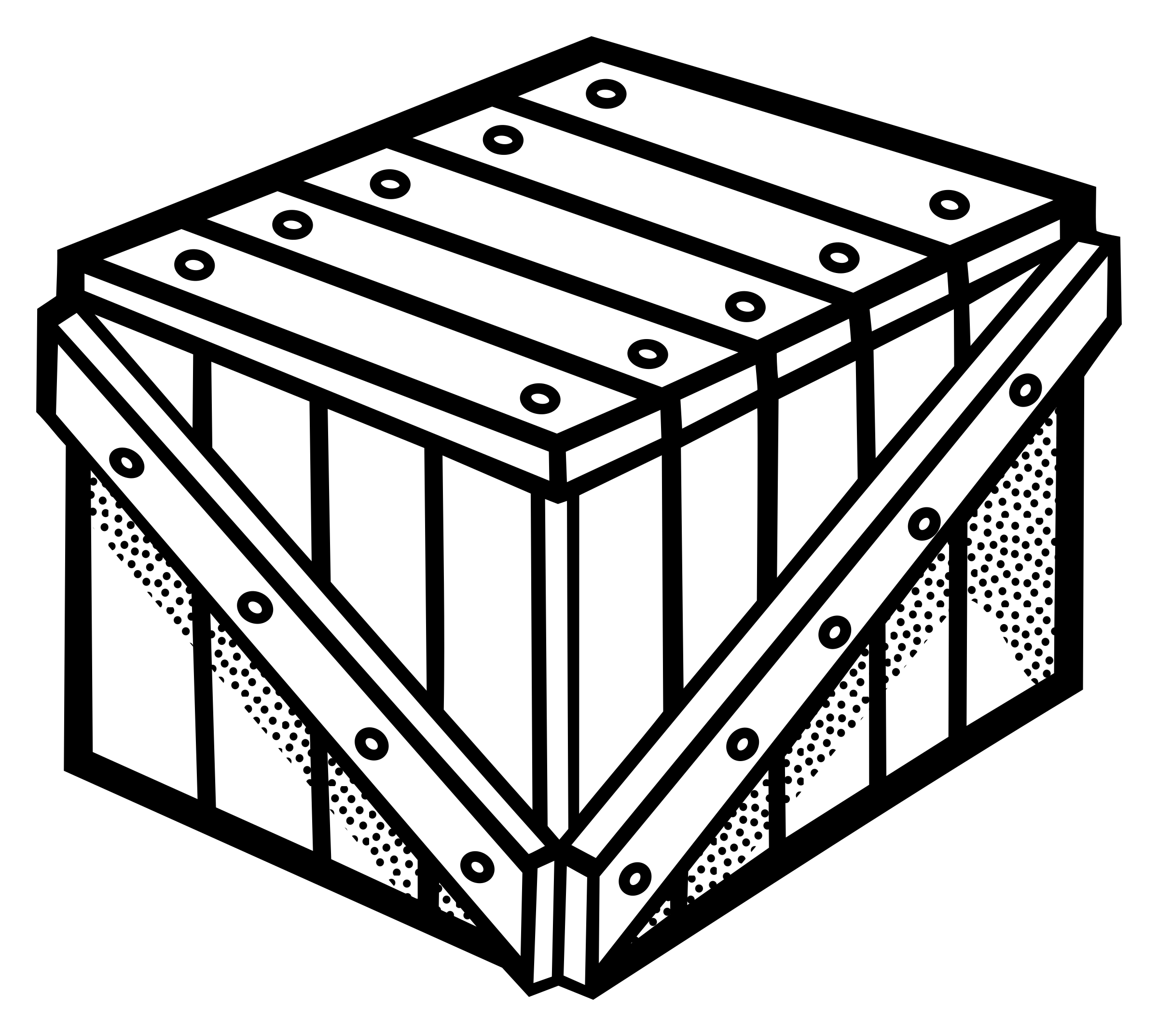 Crate outline png. Lineart icons free and
