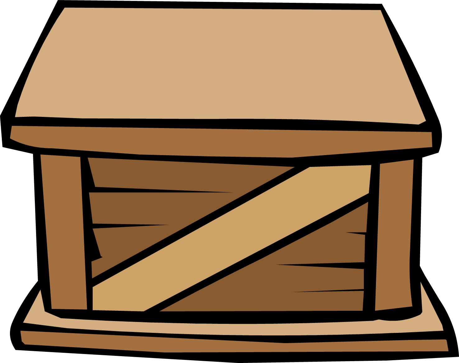 Crate png. Image wooden club penguin