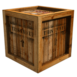 Crate texture png. Renderography baking maps as