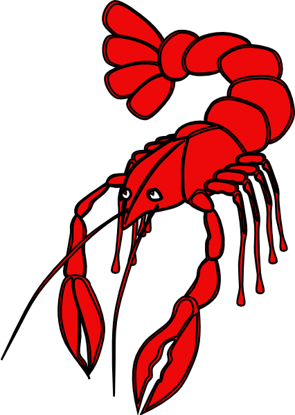 Crawfish clipart red crawfish. Clip art at clker