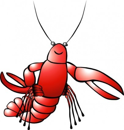 Crawfish clipart red crawfish. Free and vector graphics