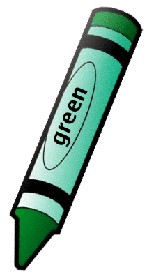 Crayon clipart cryons. Green colors teaching pinterest