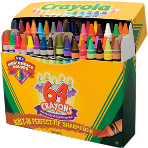 Crayons transparent two. A new blue packs