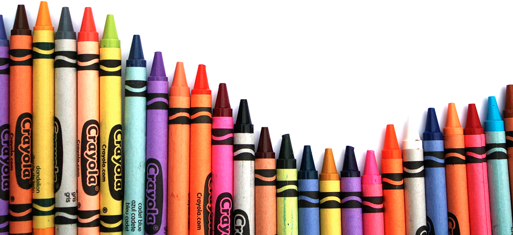 crayons transparent two