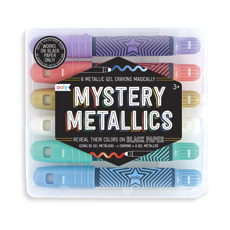 Crayons transparent black. Mystery metallics gel ooly