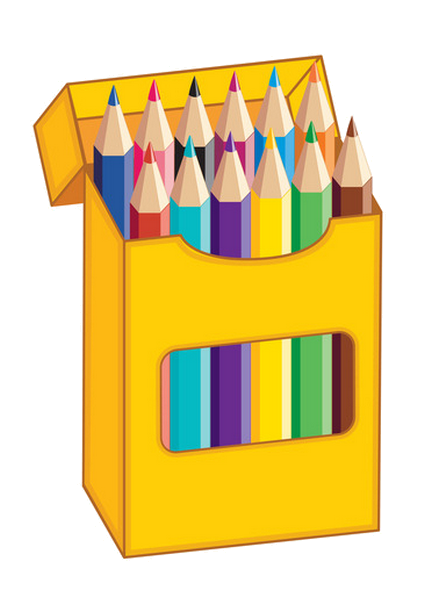 crayons transparent box 16