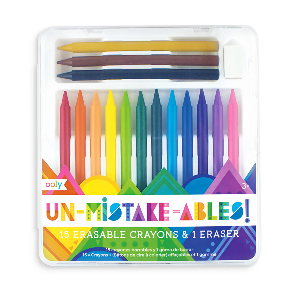 Crayons transparent totally. Unmistakebles erasable ooly