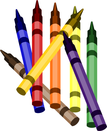 Crayons transparent school. Education clipart