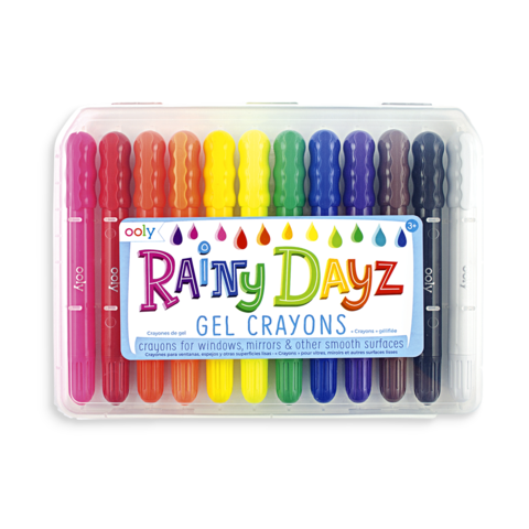 Crayons transparent totally. Color draw ooly rainy