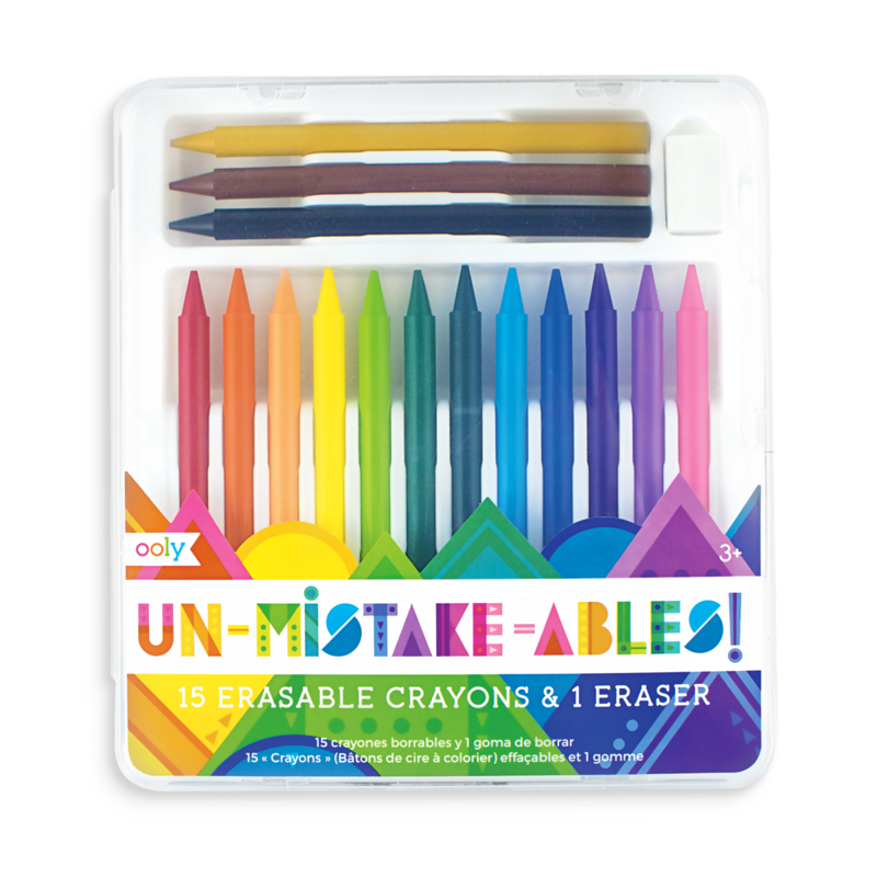 Crayons transparent totally. Unmistakebles erasable ooly unmistakeables