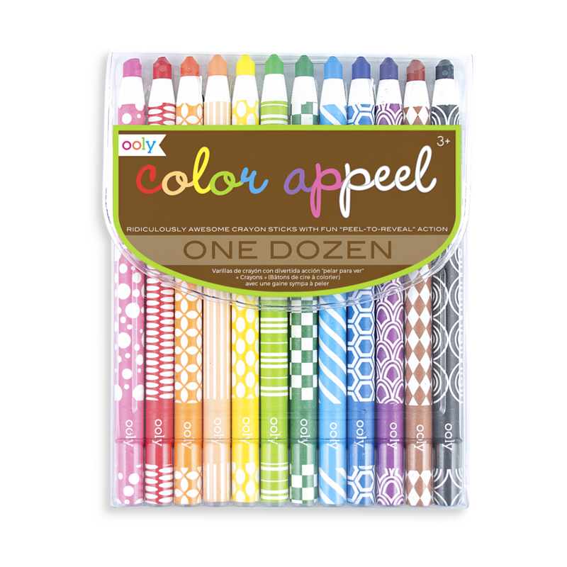 Crayons transparent wax. Color appeel ooly