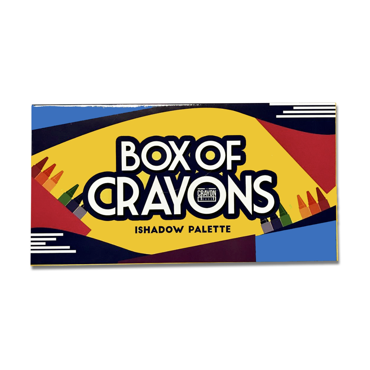 Crayons transparent packet. Box of palette the