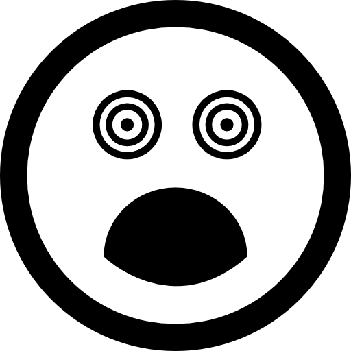 Crazy clipart circle eye. Surprised square face with