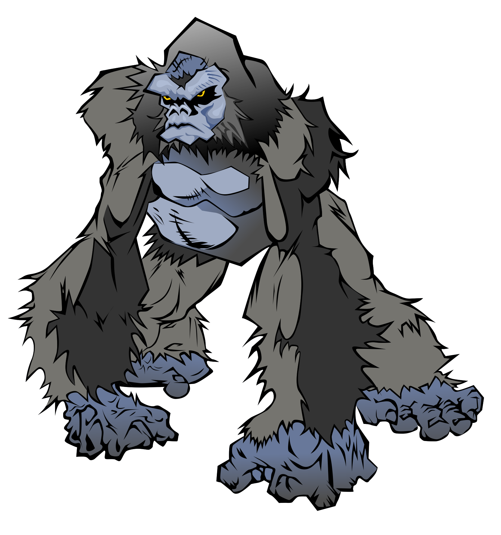 Drawing gorillas cartoon. Free pictures of download