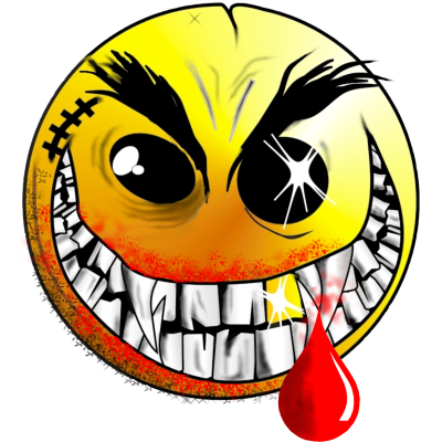Crazy smiley face png. Just stay calm now