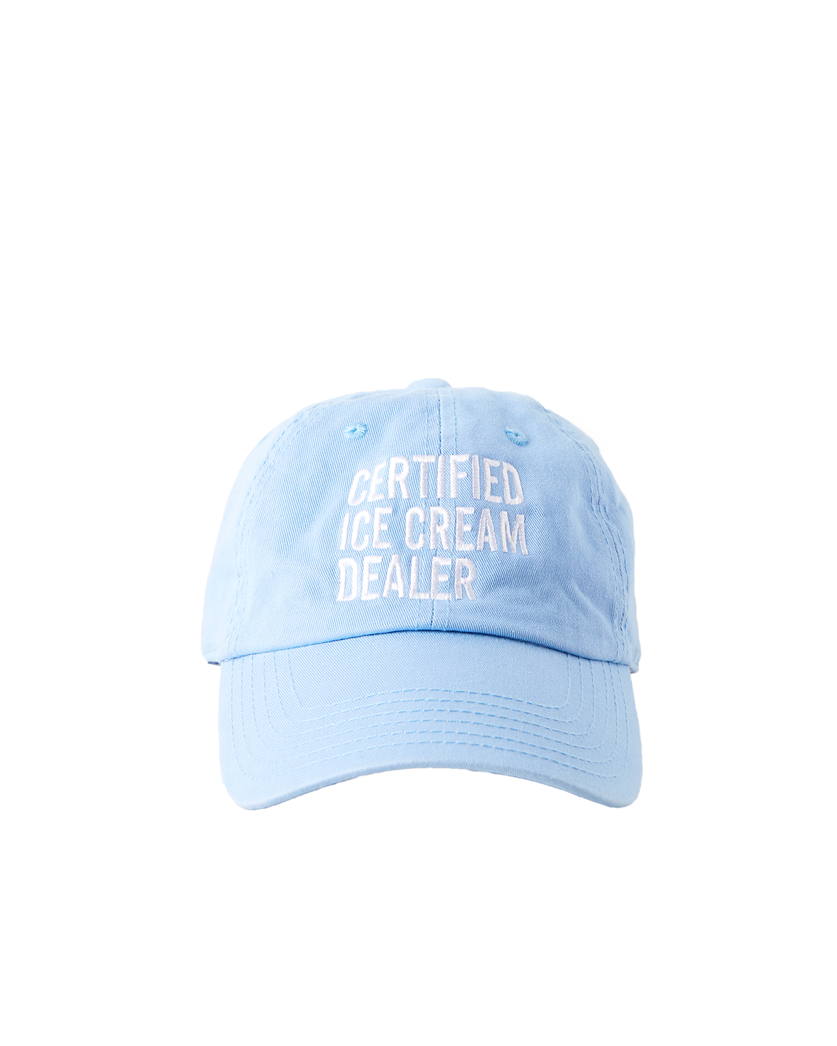 Cream dad hat png. Certified ice dealer halo