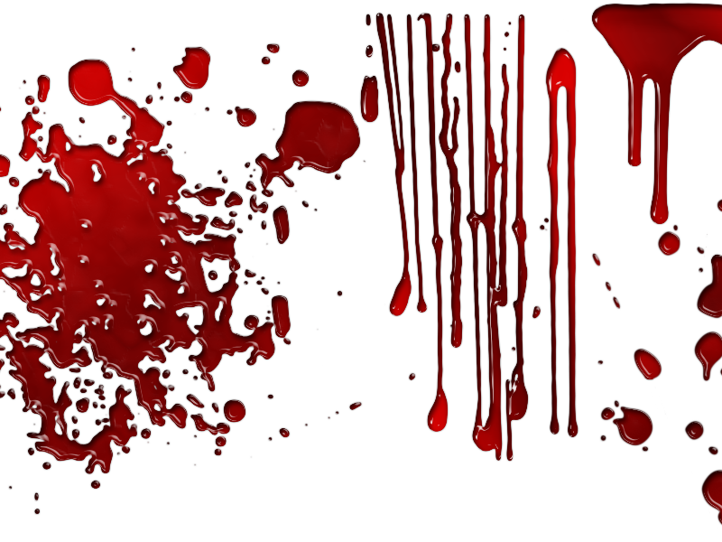 Create a transparent png in photoshop. Dripping blood overlay with